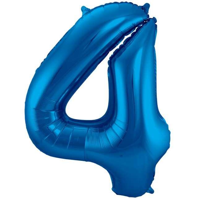 """Balon foliowy cyfra 4, 34"""", FOLAT, niebieska"""