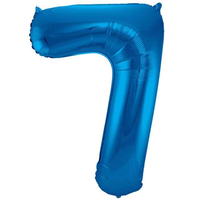 """Balon foliowy cyfra 7, 34"""", FOLAT, niebieska"""