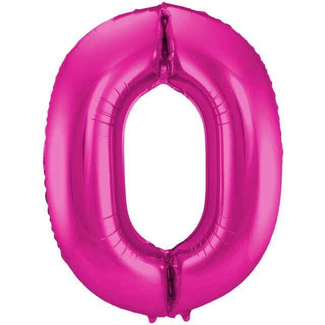 """Balon foliowy cyfra 0, 34"""", FOLAT, różowa"""
