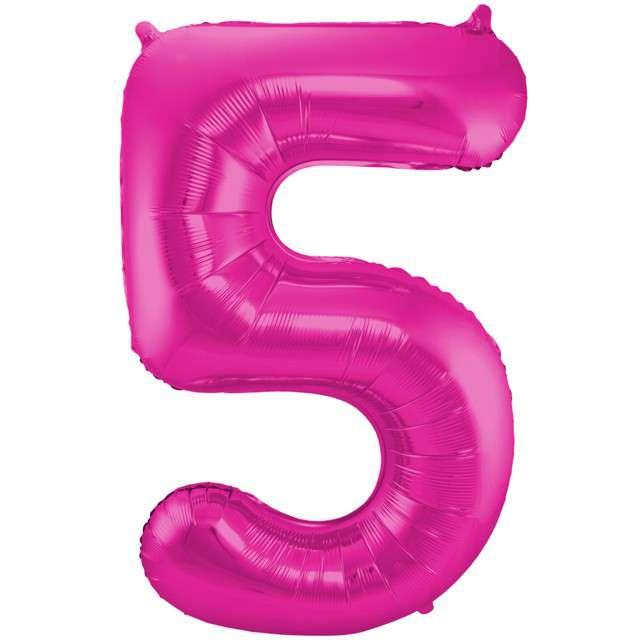 """Balon foliowy cyfra 5, 34"""", FOLAT, różowa"""