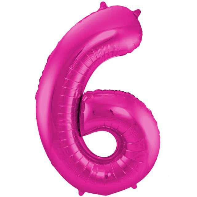 """Balon foliowy cyfra 6, 34"""", FOLAT, różowa"""