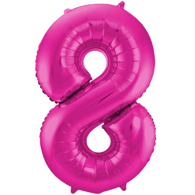 """Balon foliowy cyfra 8, 34"""", FOLAT, różowa"""