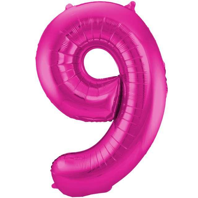 """Balon foliowy cyfra 9, 34"""", FOLAT, różowa"""