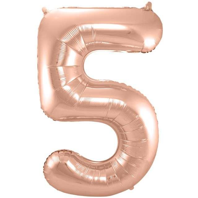 """Balon foliowy cyfra 5, 34"""", FOLAT, szampańska"""