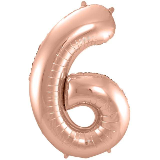 """Balon foliowy cyfra 6, 34"""", FOLAT, szampańska"""