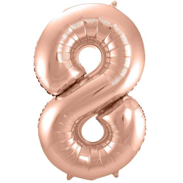 """Balon foliowy cyfra 8, 34"""", FOLAT, szampańska"""