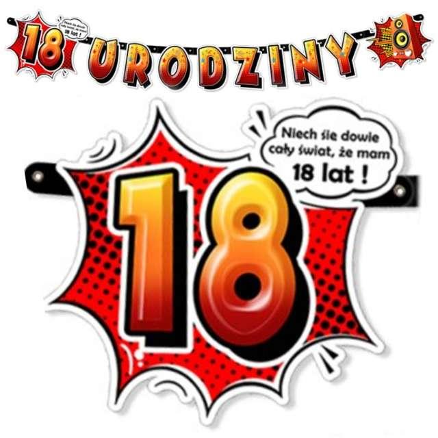 "Baner ""18 urodziny"", 110 cm"