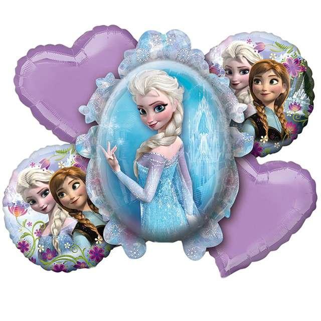"Balon foliowy ""Frozen - Kraina Lodu"", AMSCAN, zestaw"