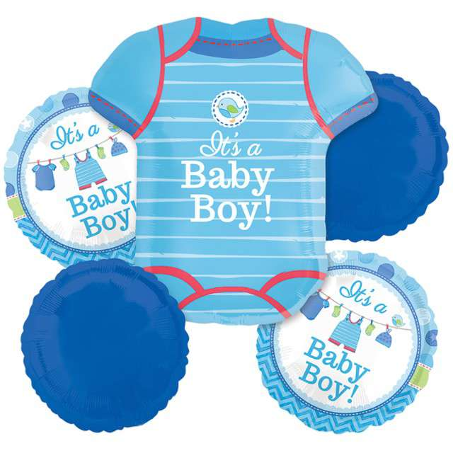 "Balon foliowy ""Shower with Love Boy"", AMSCAN, zestaw"