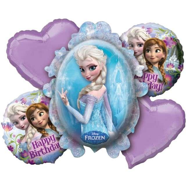 "Balon foliowy ""Frozen Kraina Lodu"", AMSCAN, zestaw"