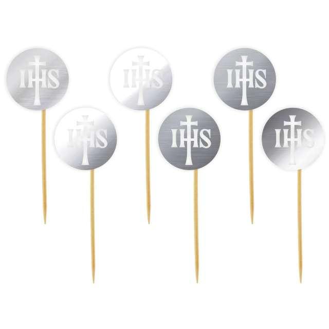 "Pikery ""IHS light"", srebrne metalik, 6 szt"