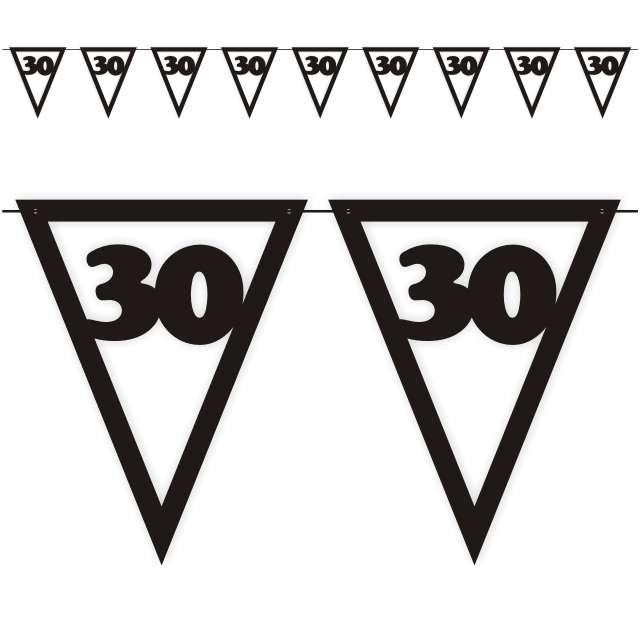 """Baner flagi """"Urodziny 30"""", czarny, 3,6 m"""