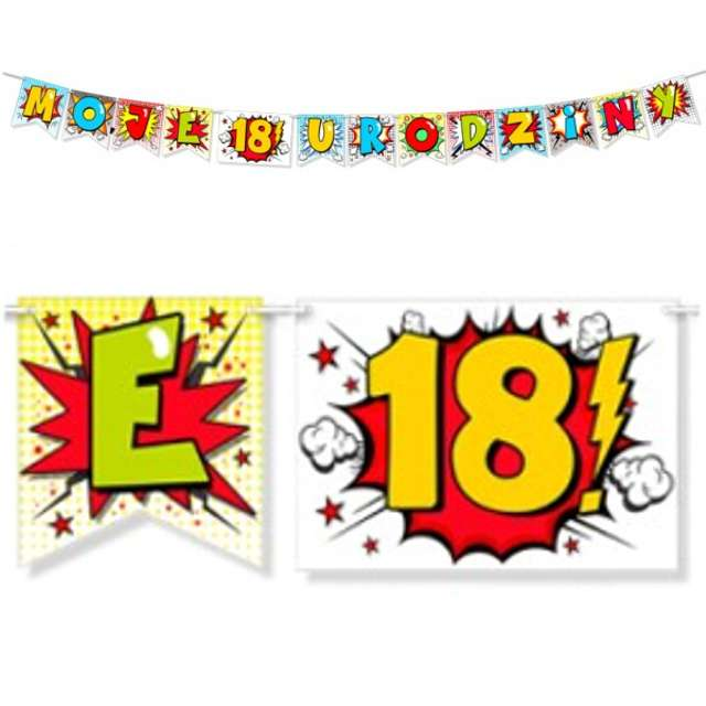 "Baner ""18 urodziny"", 242 cm"