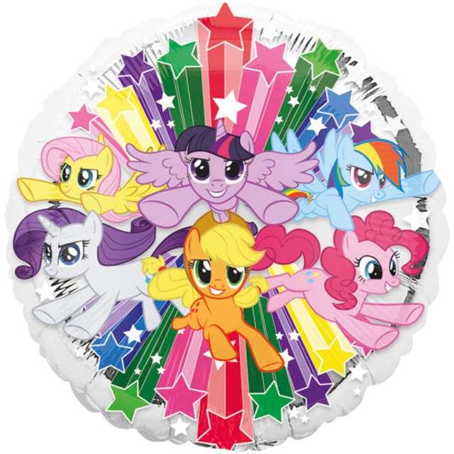 """Balon foliowy """"My Little Pony Gang"""", AMSCAN, 17"""" CIR"""