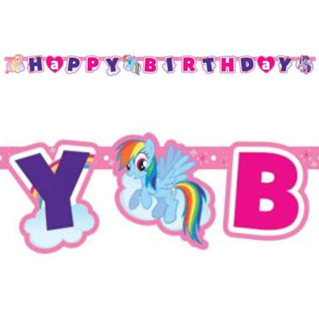 "Baner ""My Little Pony Happy Birthday"", 180 cm"