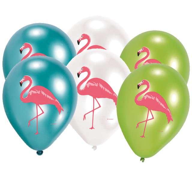 """Balony """"Flamingi"""", mix, AMSCAN, 11"""", 6 szt"""