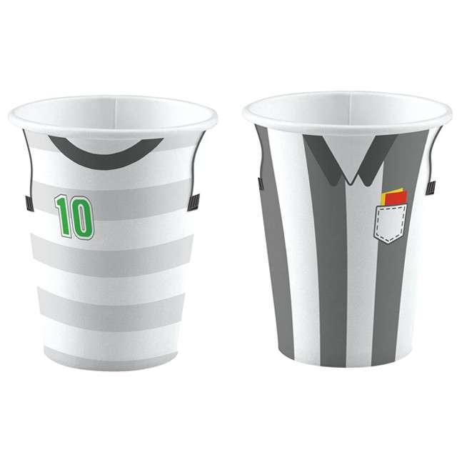 "Kubeczki papierowe ""Piłka Nożna"", AMSCAN, 250ml, 8 szt"
