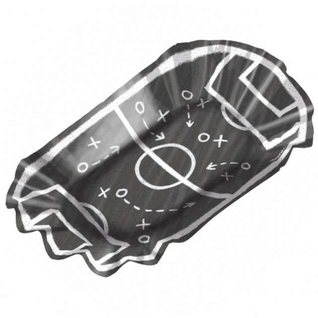 """Talerzyki papierowe """"Boisko - Piłka Nożna"""", głębokie, AMSCAN, 17 cm, 8 szt"""