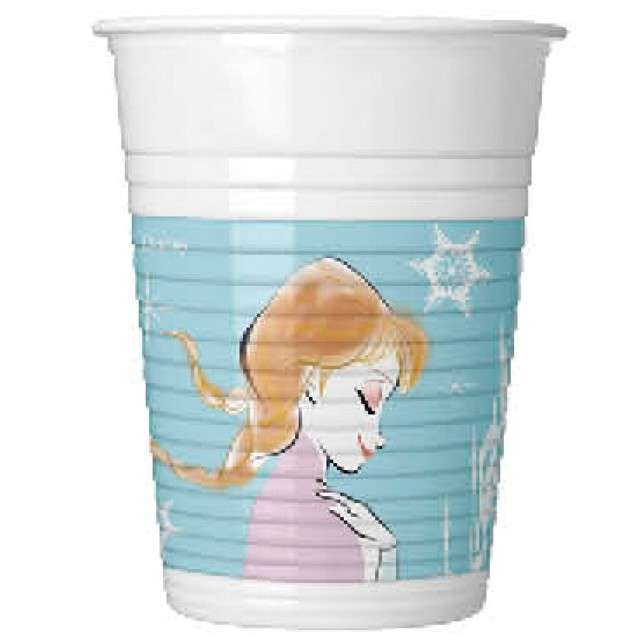 "Kubeczki plastikowe ""Frozen - Kraina Lodu"", PROCOS, 200 ml, 8 szt"