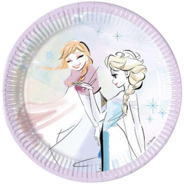 """Talerzyki papierowe """"Frozen Snowflakes"""", PROCOS, 20 cm, 8 szt"""