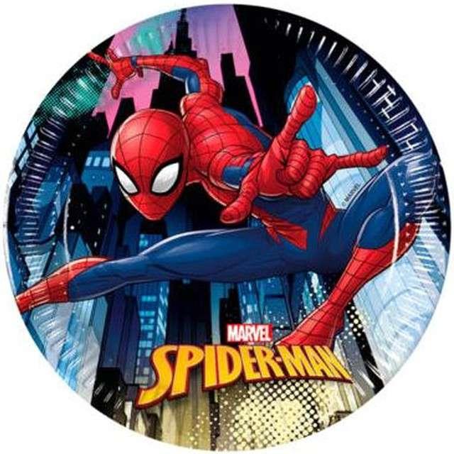 """Talerzyki papierowe """"Spiderman Team Up"""", PROCOS, 20 cm, 8 szt"""