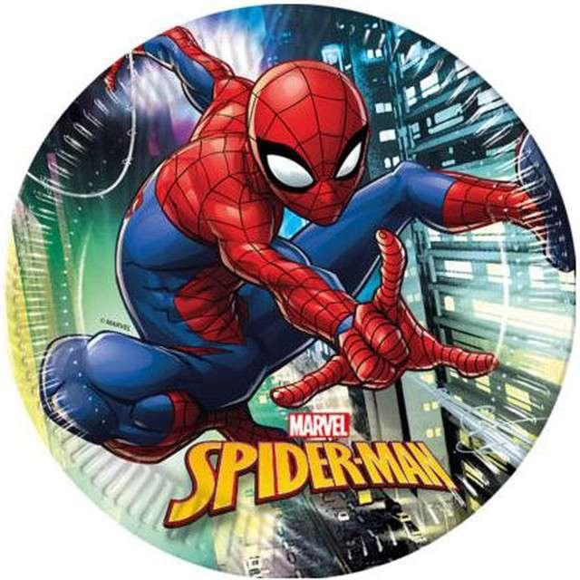 """Talerzyki papierowe """"Spiderman Team Up"""", PROCOS, 23 cm, 8 szt"""