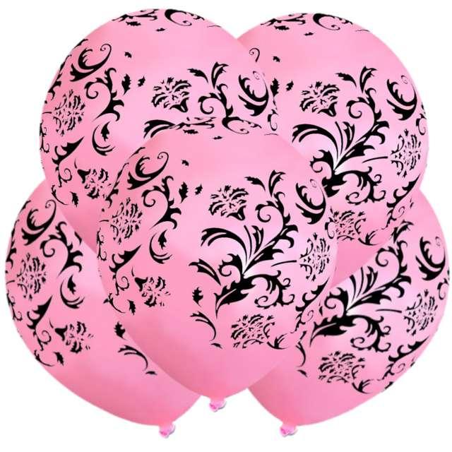 "Balony ""Mozaika"", pastel pink, 12"", 5 szt"