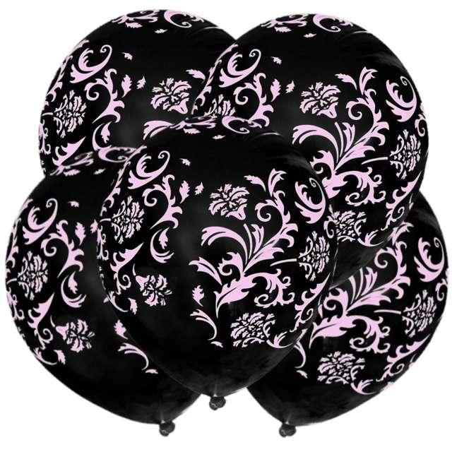 "Balony ""Mozaika"", pastel black, 12"", 5 szt"