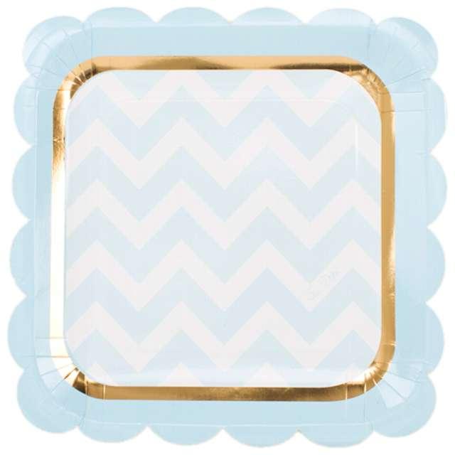 """Talerzyki papierowe """"Chic Blue"""", GIVI ITALIA, 23 cm, 8 szt"""