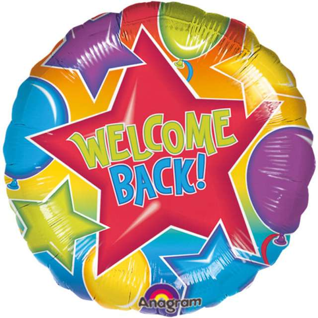 "Balon foliowy ""Welcome Back"", AMSCAN, 17"" CIR"