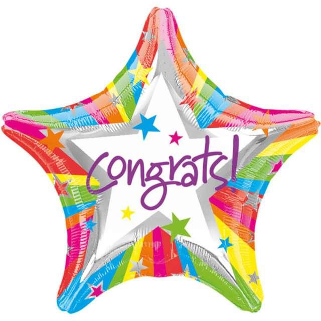 "Balon foliowy ""Congrats!"", AMSCAN, 18"" STR"