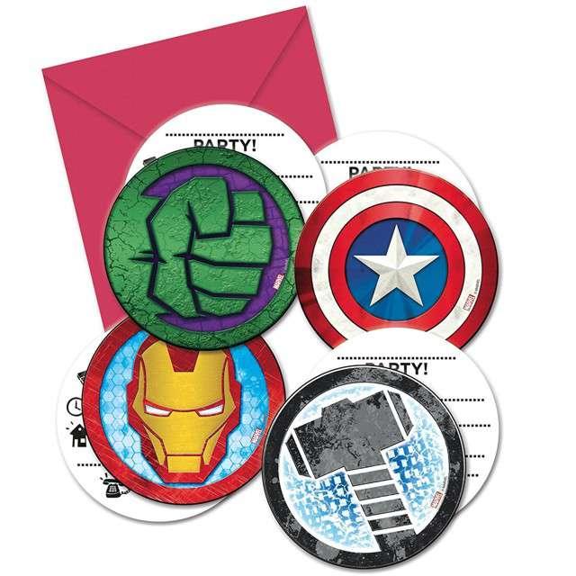 """Zaproszenia urodzinowe """"Avengers Mighty"""", PROCOS, 6 szt"""