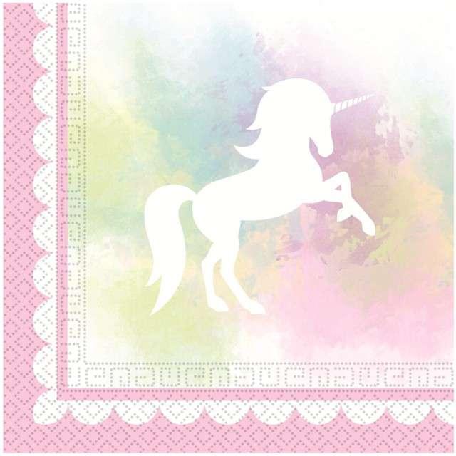 """Serwetki """"Believe In Unicorns"""", PROCOS, 33 cm, 20 szt"""