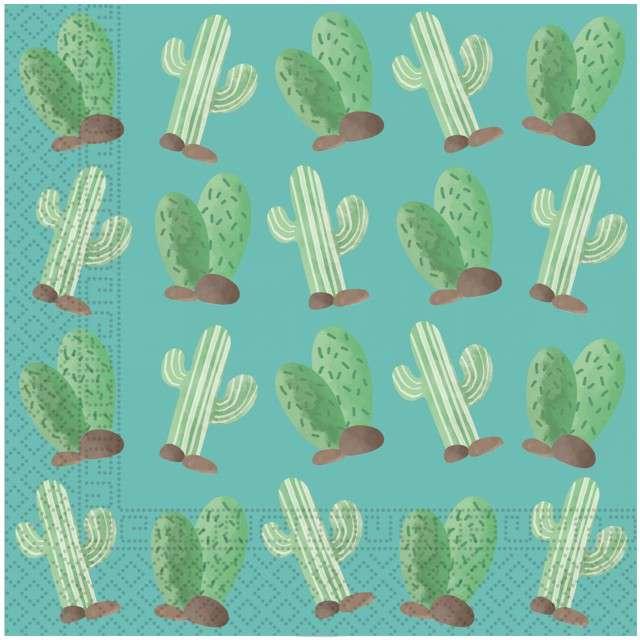 """Serwetki """"Kaktusy"""", PROCOS, 33 cm, 20 szt"""
