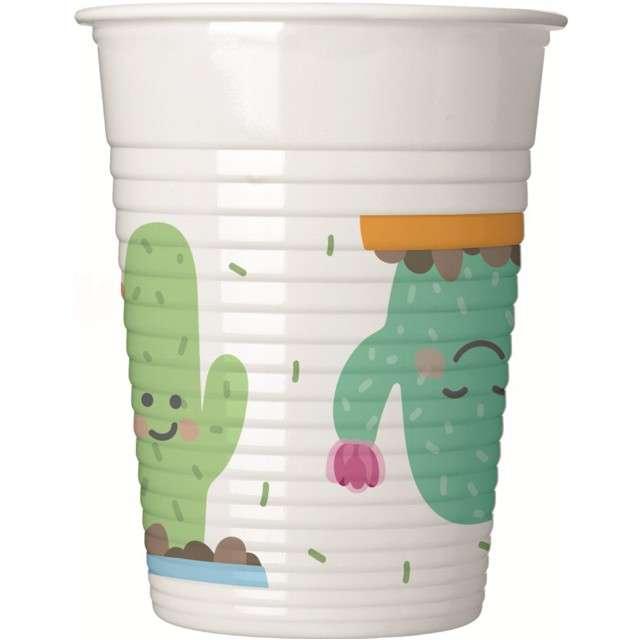 """Kubeczki plastikowe """"Kaktusy"""", PROCOS, 200 ml, 8 szt"""