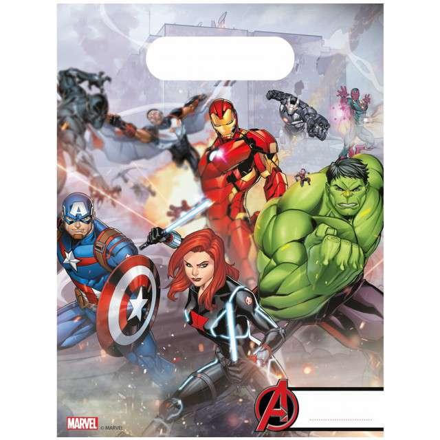 """Torebki foliowe """"Avengers"""", PROCOS, 23x17 cm, 6 szt"""