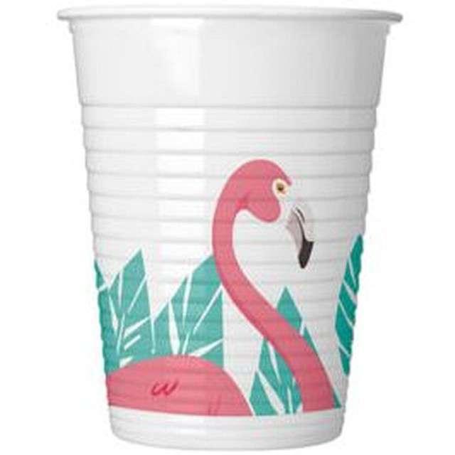 """Kubeczki plastikowe """"Flamingo"""", PROCOS, 200 ml, 8 szt"""