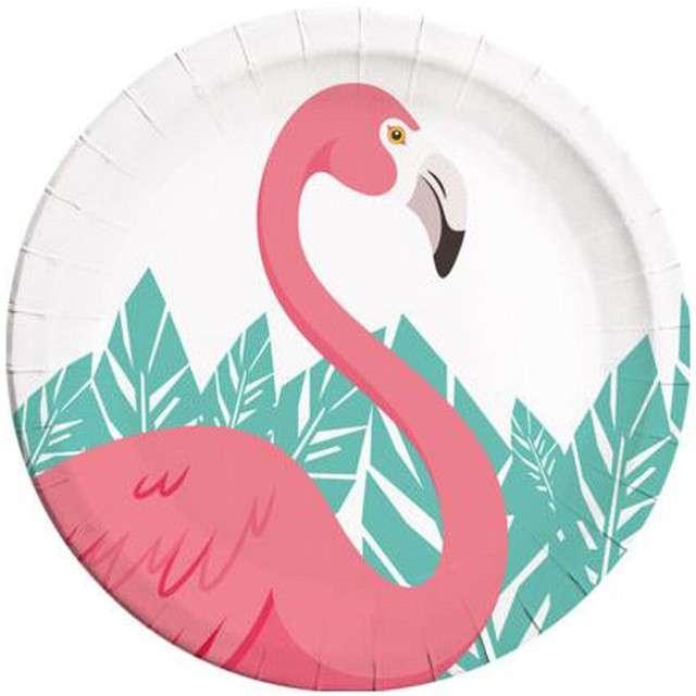 """Talerzyki papierowe """"Flamingo"""", PROCOS, 23 cm, 8 szt"""