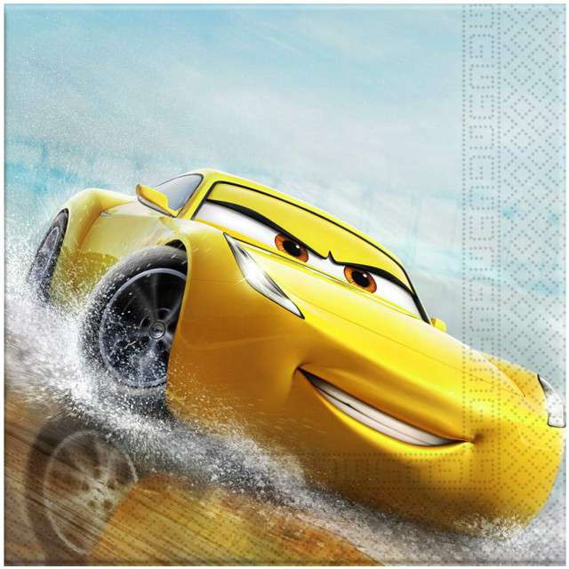 "Serwetki ""Cars - The Legend Of The Track"", PROCOS, 33 cm, 20 szt"