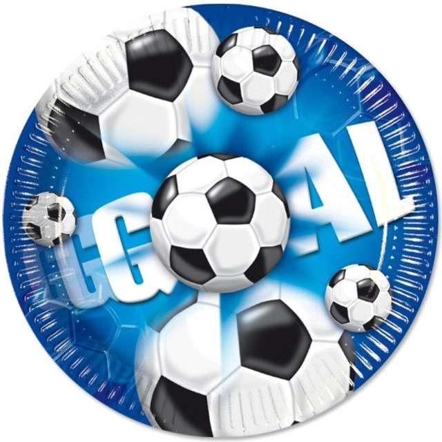 """Talerzyki papierowe """"Kokliko Football Party"""", Procos, 23 cm, 10 szt"""