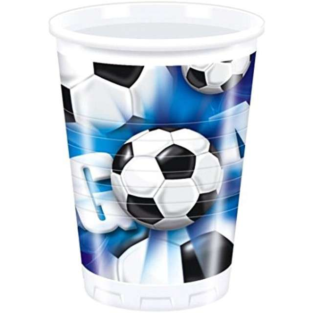 "Kubeczki plastikowe ""Kokliko Football Party"", PROCOS, 200 ml, 10 szt"