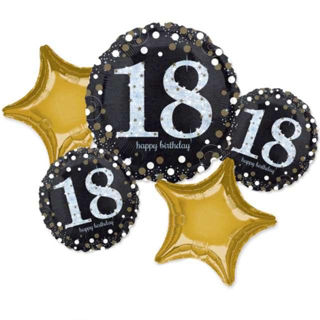 Balon foliowy 18 Urodziny - Sparkling Celebration AMSCAN zestaw
