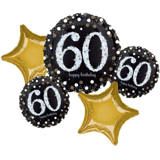 """Balon foliowy """"60 Urodziny - Sparkling Celebration"""", AMSCAN, zestaw"""