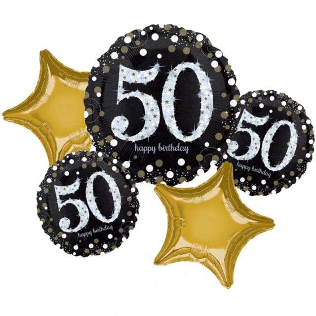 """Balon foliowy """"50 Urodziny - Sparkling Celebration"""", AMSCAN, zestaw"""