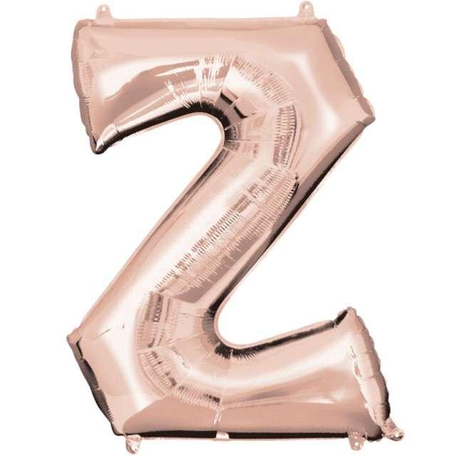 """Balon foliowy litera Z, 32"""", AMSCAN, szampański"""