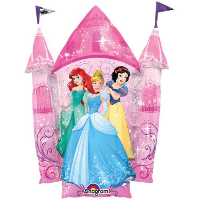 "Balon foliowy ""Pałac Księżniczek Disneya"", AMSCAN, 35"" SHP"