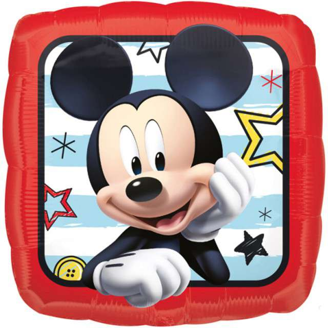 """Balon foliowy """"Myszka Mickey"""", AMSCAN, 17"""" SQR"""