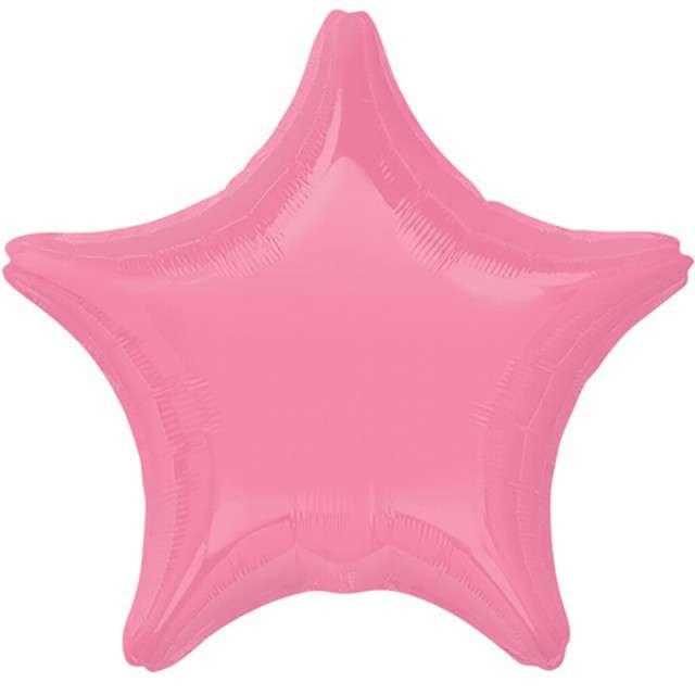 """Balon foliowy """"Gwiazda"""", różowy jasny, AMSCAN, 19"""" STR"""