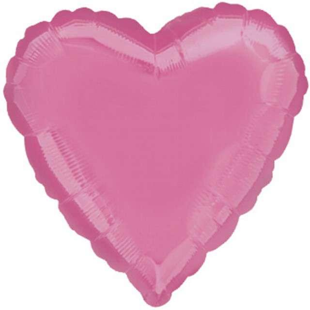 "Balon foliowy ""Serce"", różowy jasny, AMSCAN, 19"" HRT"