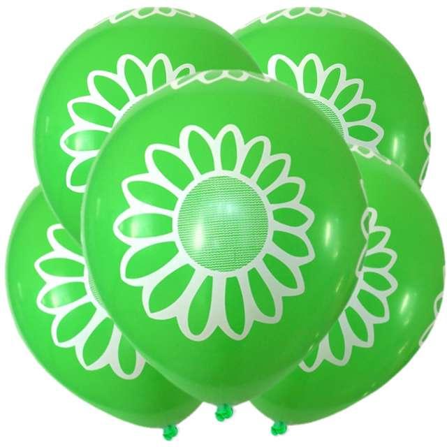 """Balony """"Stokrotka"""", 12"""", zielone, 5 szt"""